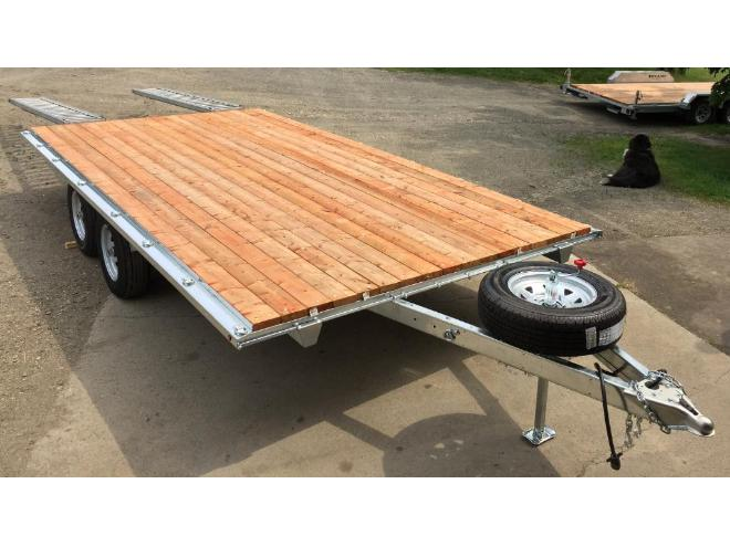 plateau plateforme remorque deck over trailer 8 x 16 neuf vendre st georges ch app. Black Bedroom Furniture Sets. Home Design Ideas