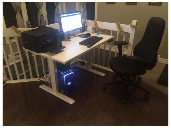Table ajustable électrique pour poste de travail assis debout
