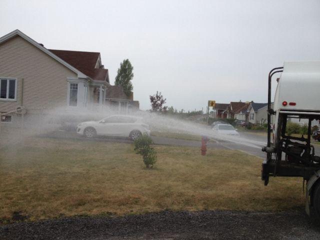 remplissage de piscine spa transport deau camion citerne