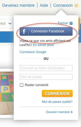 Connexion FB